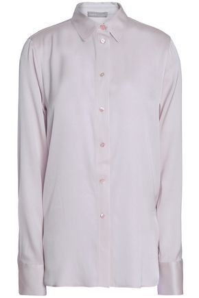 VINCE. Stretch-silk crepe de chine shirt