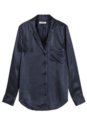 EQUIPMENT Striped silk-satin shirt