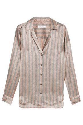 EQUIPMENT Herringbone washed-silk shirt