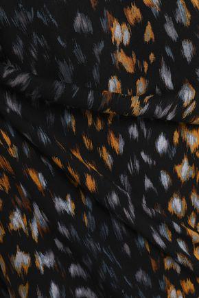 EQUIPMENT Leopard-print washed-silk mini dress
