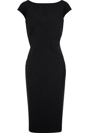 ZAC POSEN Bead-embellished crepe dress