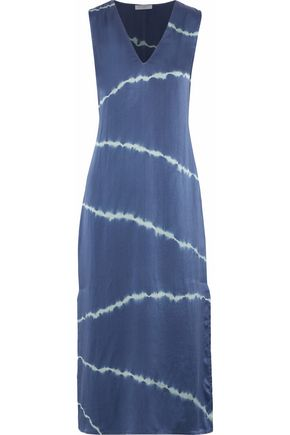 EQUIPMENT Tie-dye silk midi dress