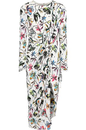 1a3f5a69c51a JASON WU Woman Wrap-Effect Floral-Print Jersey Dress White
