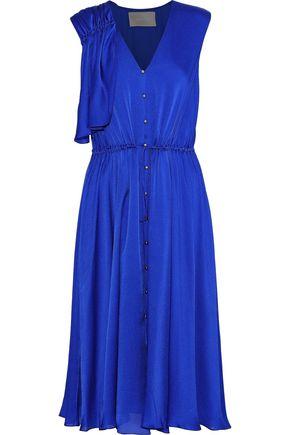 JASON WU Draped gathered silk-chiffon dress