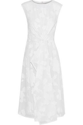 JASON WU Draped fil coupé cotton-voile dress