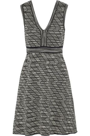 M MISSONI Flared metallic crochet-knit mini dress