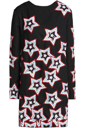 HOUSE OF HOLLAND Embellished crepe mini dress