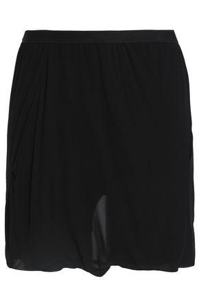 RICK OWENS Silk-georgette shorts