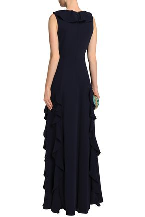 MIKAEL AGHAL Ruffled crepe gown