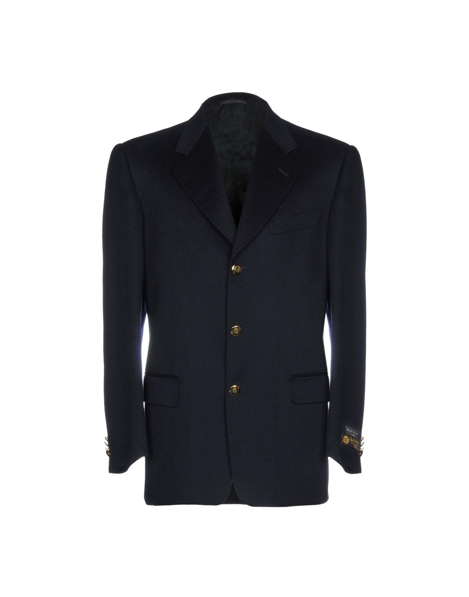 《送料無料》NINO DANIELI メンズ テーラードジャケット ダークブルー 48 バージンウール 100%