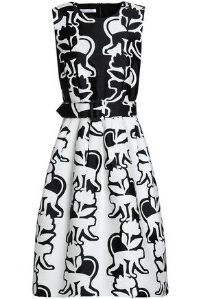 OSCAR DE LA RENTA Floral-print cotton-blend jacquard dress