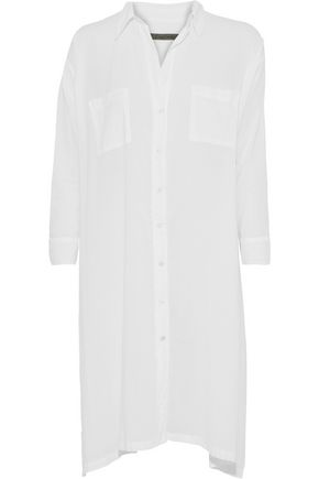ENZA COSTA Oversized cotton-voile shirt
