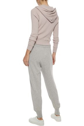 ENZA COSTA Waffle-knit cotton and cashmere-blend hoodie