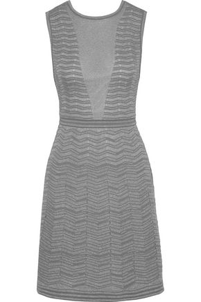 M MISSONI Cutout metallic crochet-knit dress