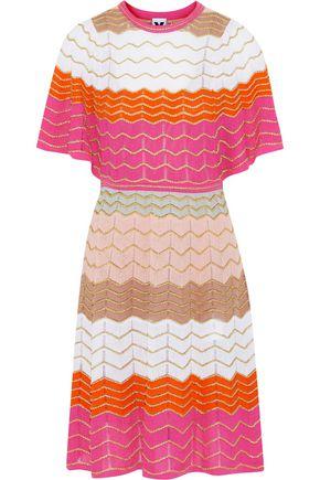 M MISSONI Metallic crochet-knit cotton-blend dress