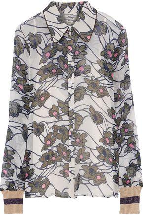 BAUM UND PFERDGARTEN Madrona floral-print georgette shirt