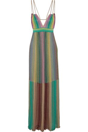 c9d5de983cfc M MISSONI Metallic crochet-knit maxi dress ...