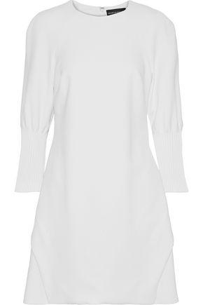 BRANDON MAXWELL Pintucked crepe mini dress