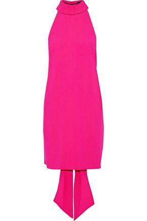 BRANDON MAXWELL Tie-back pintucked crepe mini dress