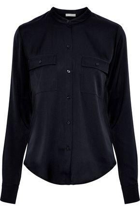 VINCE. Stretch-silk shirt