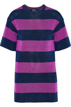 M MISSONI Metallic striped jacquard-knit top