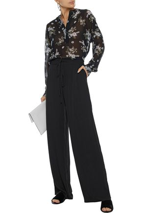 24338daeadeec VINCE. Floral-print silk-chiffon blouse