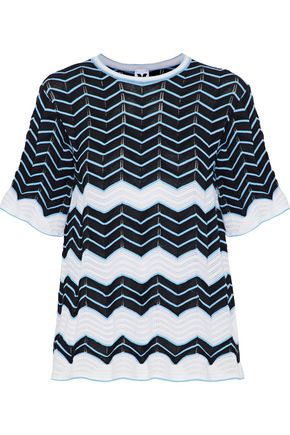 M MISSONI Crochet cotton-blend top