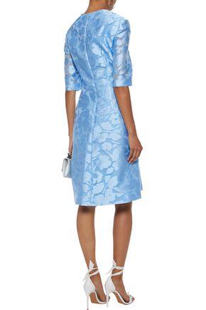 LELA ROSE Holly fil coupé dress
