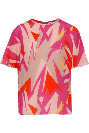 M MISSONI Printed silk crepe de chine blouse