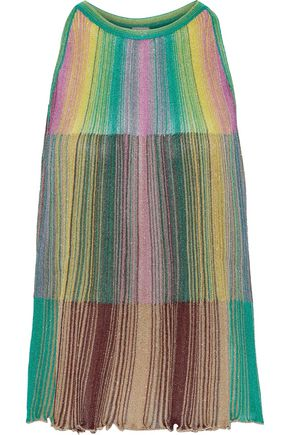M MISSONI Metallic striped crochet-knit top