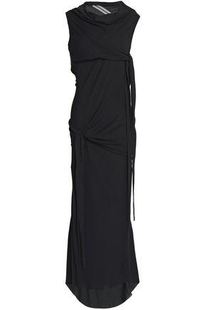 RICK OWENS Draped knotted crepe maxi dress