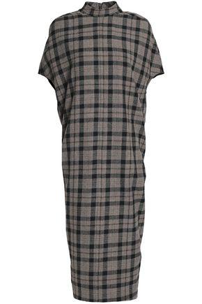 RICK OWENS Checked wool midi dress