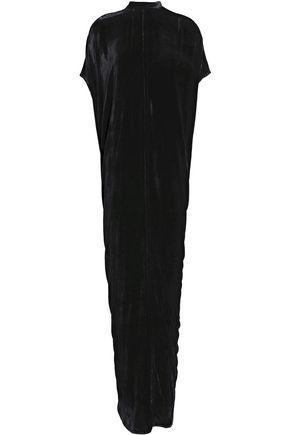 RICK OWENS Wrap-effect velvet maxi dress