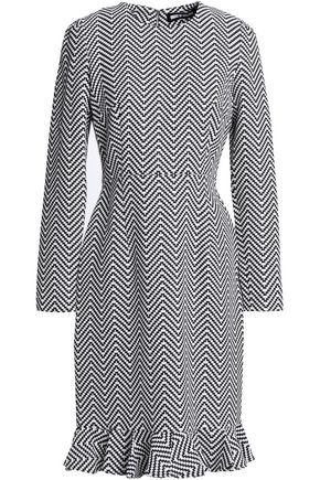 HOUSE OF HOLLAND Fluted cotton-blend jacquard dress