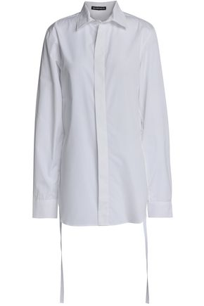 ANN DEMEULEMEESTER Draped cotton-poplin shirt