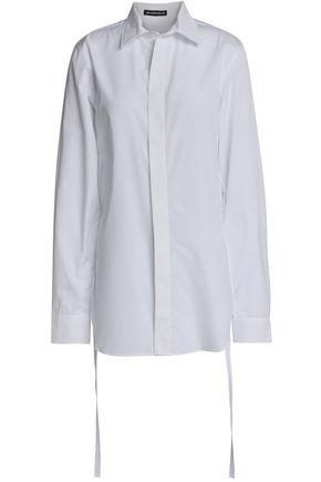 ANN DEMEULEMEESTER Draped cotton-poplin shirt