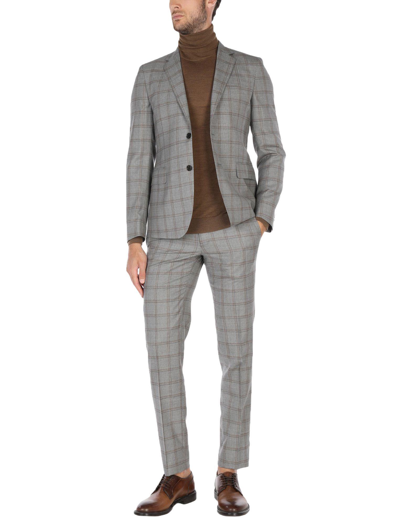 《送料無料》BRIAN DALES メンズ スーツ グレー 46 ウール 100%