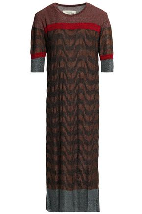 BY MALENE BIRGER Metallic jacquard-knit midi dress