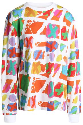 HOUSE OF HOLLAND Printed cotton-jersey top