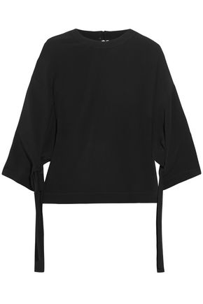ROSETTA GETTY Knotted crepe top