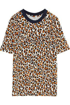 BAUM UND PFERDGARTEN Jasbir leopard-print stretch-knit T-shirt