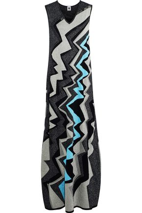 M MISSONI Metallic jacquard-knit maxi dress
