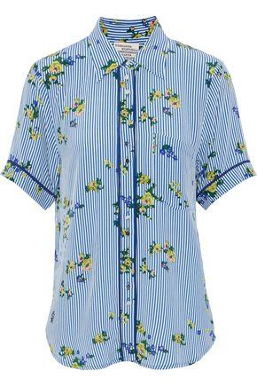 BAUM UND PFERDGARTEN Matsu floral-print striped crepe shirt