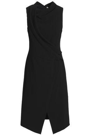 HALSTON HERITAGE Wrap-effect stretch-crepe dress