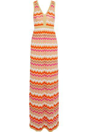 M MISSONI Metallic crochet-knit maxi dress