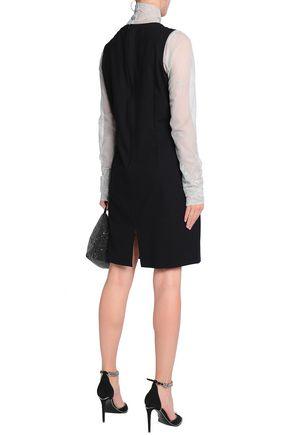 ANN DEMEULEMEESTER Wool-blend crepe dress