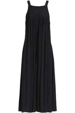 TIBI Pleated silk crepe de chine midi dress