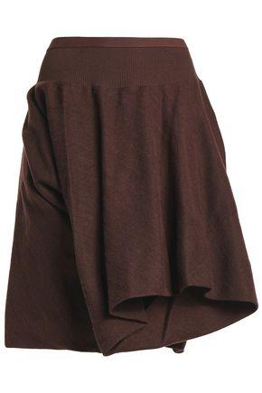RICK OWENS Layered wool and silk-blend shorts