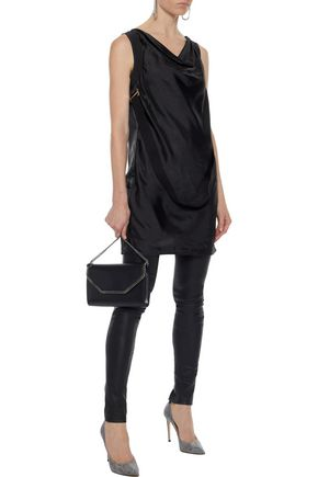 RICK OWENS Embellished draped satin-faille top