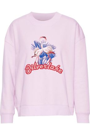 BAUM UND PFERDGARTEN Embroidered cotton-blend fleece sweatshirt